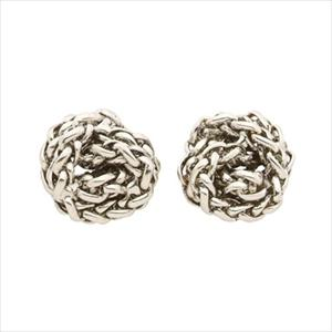 Lauren By Ralph Braided Knot Stud Earrings