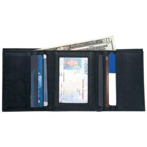 Mundi Leather Tri-Fold Wallet/Mens