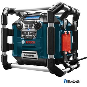 Power Box Jobsite AM/FM Radio/Charger/Digital Media Stereo with 360 Degree Sound and Bluetooth