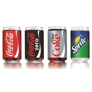 16oz Assorted Coca-Cola Glasses Set of 4