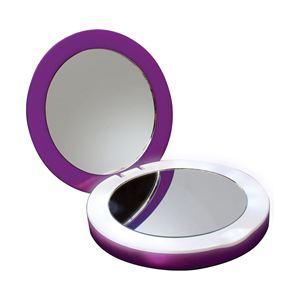 PowerNOW! Compact Charger with Lighted Mirror-Purple